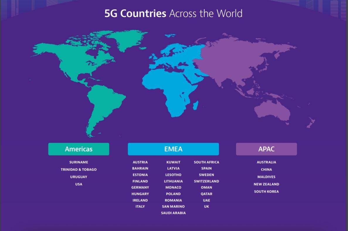 5G-ի աշխարհագրությունը